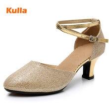 a0f1ddb5 Zapatos cómodos de baile latino/Tango/Salsa para damas 4 colores  oro/púrpura suela suave adulto zapatos de baile de salón vals p.