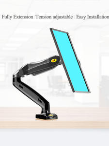 Desk-Mount-Stand Computer-Monitor-Holder Arm-Gas-Spring F80-Monitor Flexible Full-Motion
