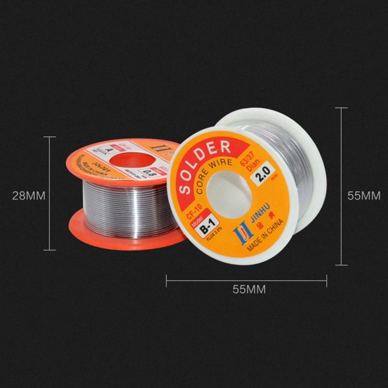 Купить с кэшбэком Solder Wire 0.3/0.4/0.5/0.6/0.8/1.0mm Diam 60/40 63/37 Clean Rosin Core Welding Tin Lead Solder Iron Wire Reel Soldering Tools