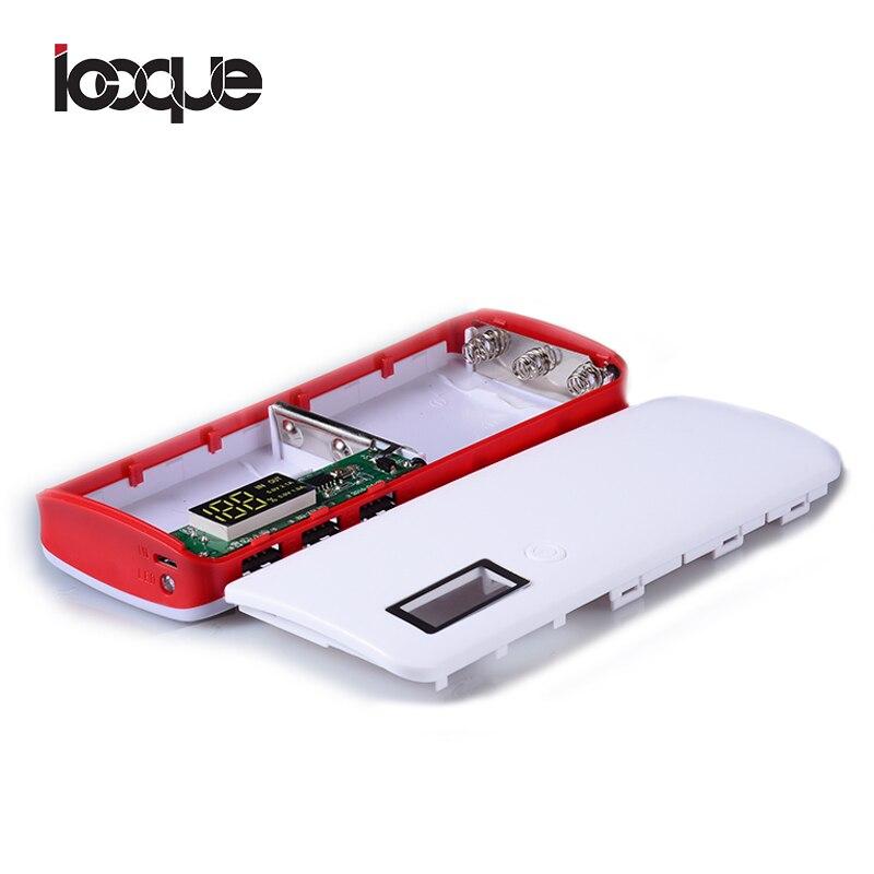 Banco do Poder Banco de Potência 18650 sem Bateria Chegada Nova 3 Portas 5x18650 DIY Bateria Portátil Shell Caso BOX Caixa Display LCD Powerbank KIT 18650 sem