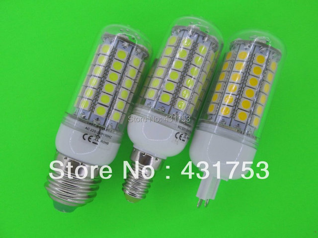 10PCS  85-265/AC 5050 69 LED Lamp 12W E27 E14 G9 LED Corn Bulb  Cold white / Warm White 360 Degree Light Bulb Lamp Energy Saving