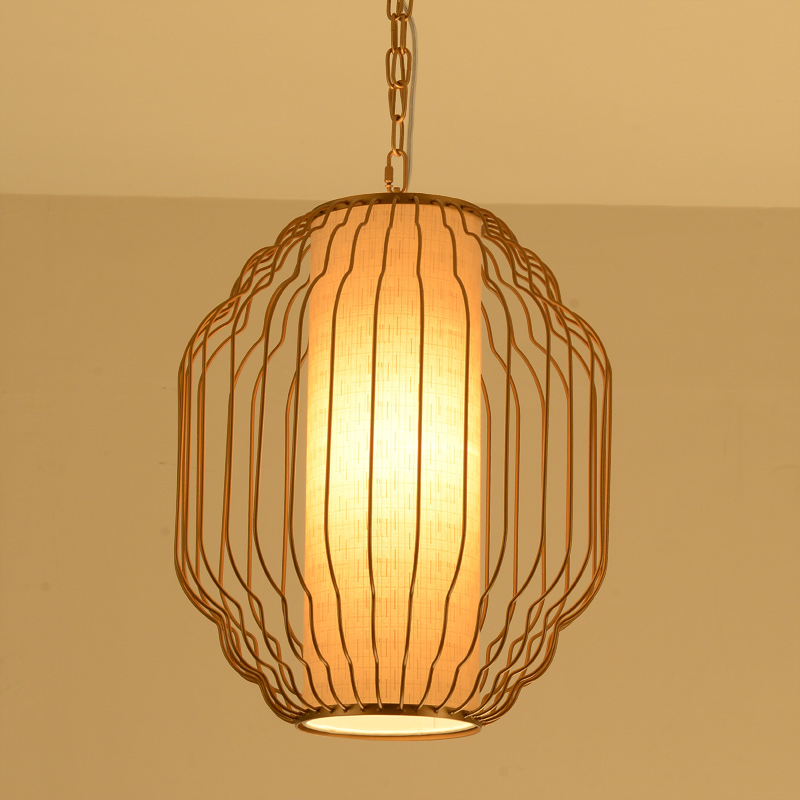 The new modern Chinese restaurant pendant light cage bar restaurant meal aisle porch Creative Zen hanging pendant lamp ya72728 the restaurant in front of the hotel cafe bar small aisle entrance hall pendant light creative mediterranean