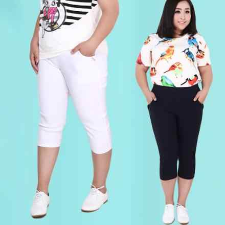 Plus Size Female Elastic Pants capris 6XL 5XL High Waist Women Super Stretch Summer Calf-length Pencil Pants Pantalon Large Y868