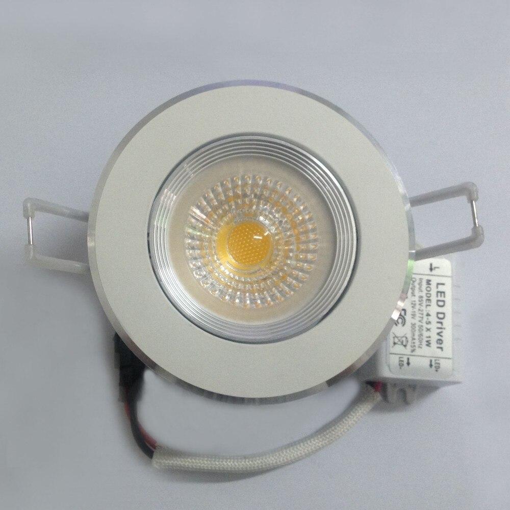 50 шт. затемнения удар утопленный светодиодные светильники 5 Вт высокого потолка прожектор теплые/холодный белый AC110V/ 220 В 85-265 В