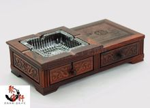 Carved mahogany fashionable ashtray household act the role ofing is tasted red acid branches crafts ashtray furnishing articles redwood carved wooden furnishing articles wooden red acid branch stone crafts special circular base