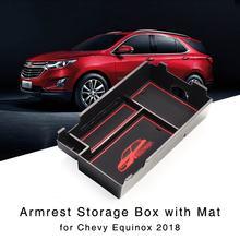 Caja de almacenamiento de reposabrazos para Chevrolet Equinox 2018 bandeja de guante de consola Central