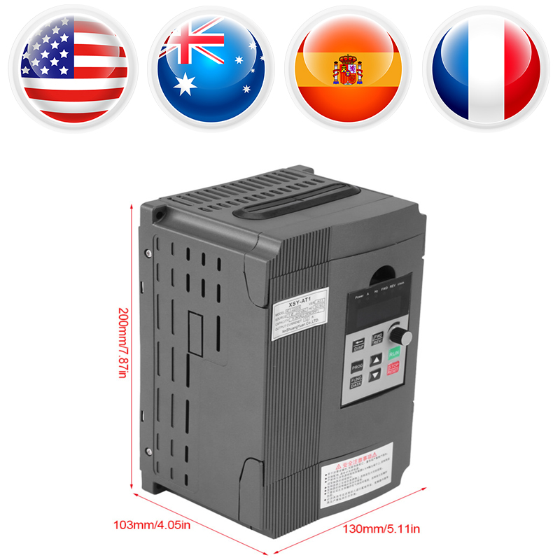 3-phase 2.2kW AC Motor Variable Frequency Inverter Drive Inverter VSD VFD Universal Motor Speed PWM Control Inverters 1pc 2kw 3hp single phase variable frequency inverter drive inverter vsd vfd universal motor speed pwm control inverters mayitr