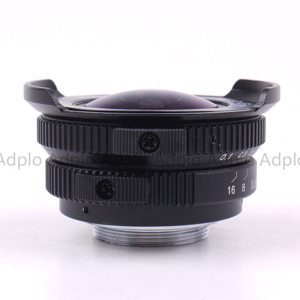 Fish eye Lens 8mm F3.8 For C Mount Camera + C to Micro M4/3 / NEX / N1 / Pentax Q /Fuji / M M2 Adapter Ring For DSLR Camera 7