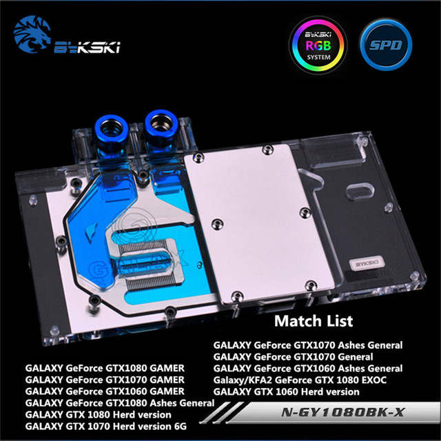 US $91 79 5% OFF|Aliexpress com : Buy Bykski Full Coverage GPU Water Block  For GALAX GTX1080 GTX1070 Graphics Card N GY1080BK X from Reliable gpu