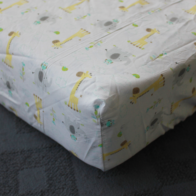 Baby Bedding Set Cotton Embroidery Giraffe Hippo Elephants Bees Quilt Per Mattress Cover 6 Pieces Multicolor In Sets From Mother Kids On