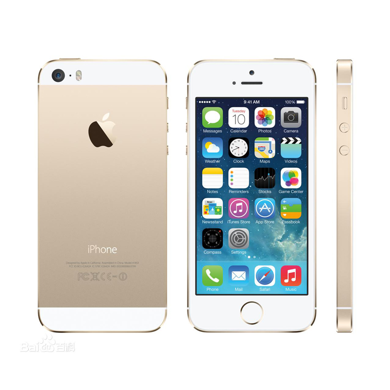 bilder für Apple iphone 5 s original entsperrt apple a7/m7 cpu 1 gb ram 16 gb/32 gb/64 gb rom touch id fingerabdruck