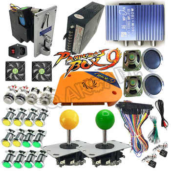 Pandora Box 9 1500 games  DIY Arcade Bundles Kits Parts With Power Supply Jamma Harness Joystick led Push Button Coin Selector - DISCOUNT ITEM  0% OFF All Category
