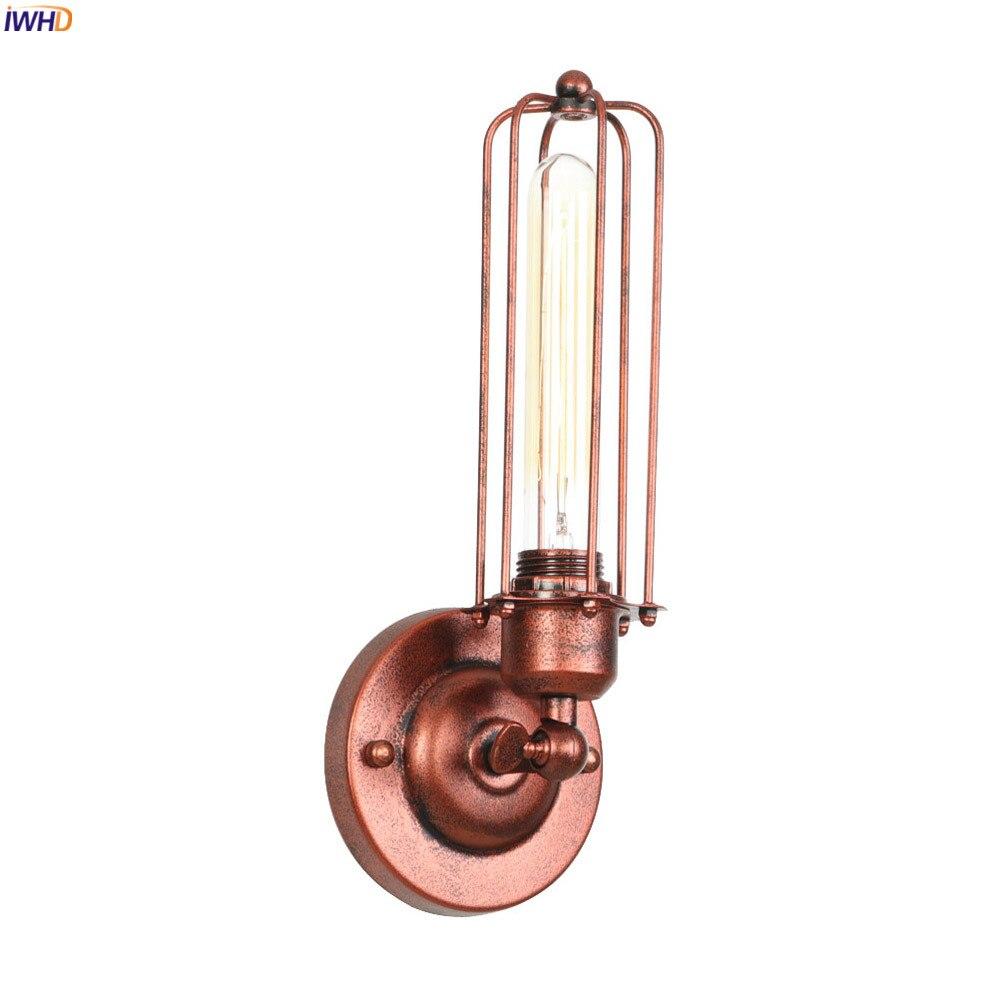 IWHD RH промышленные Декор Винтаж настенный светильник Спальня дома освещение для домашней лестницы Ретро Эдисон светодиодный настенный светильник (бра) светильник