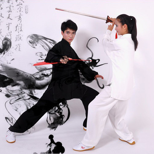 Hot Mens And Womens Martial Arts Uniform Kung Fu Tai Chi Suits Morning Exercise Wear Size S-2XL