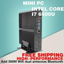 Срок в пять раз Intel I7-6500U Шесть Поколения ПРОЦЕССОРА мини-офис игра, посвященная компьютер Intel HD Graphics 520 Бесплатно доставка