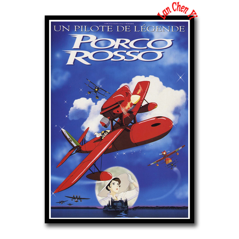 Miyazaki Hayao Porco Rosso Coated Paper Poster Cafe Creative Wallpaper Interior Decoration