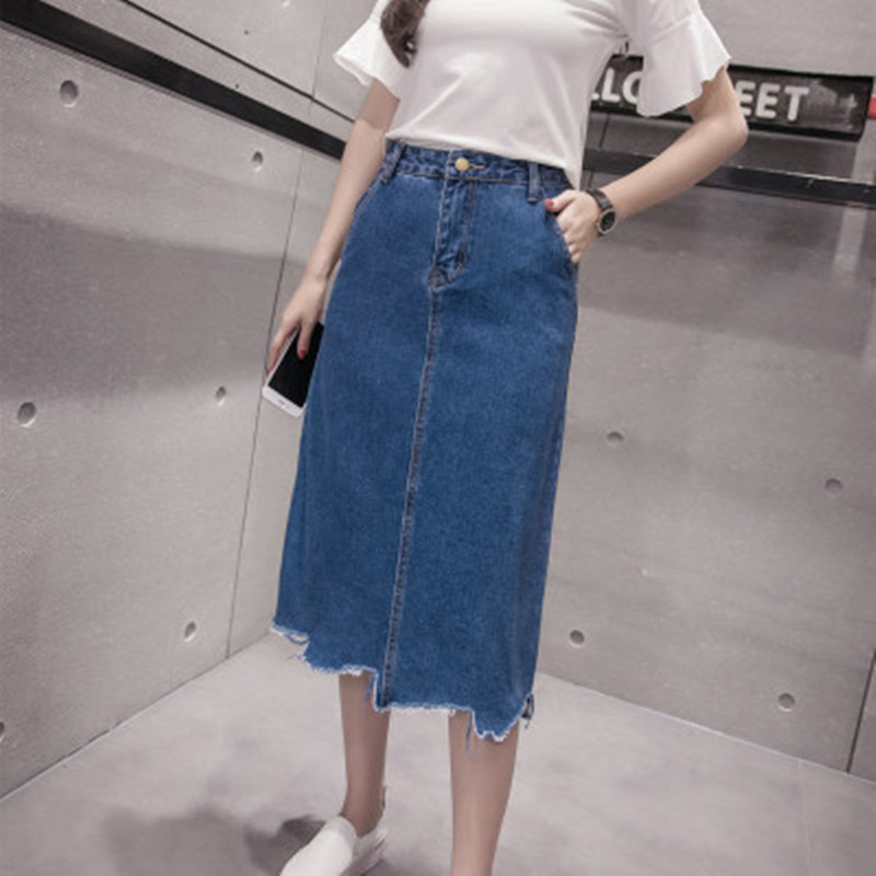 Popular Jean Skirts Long-Buy Cheap Jean Skirts Long lots from ...