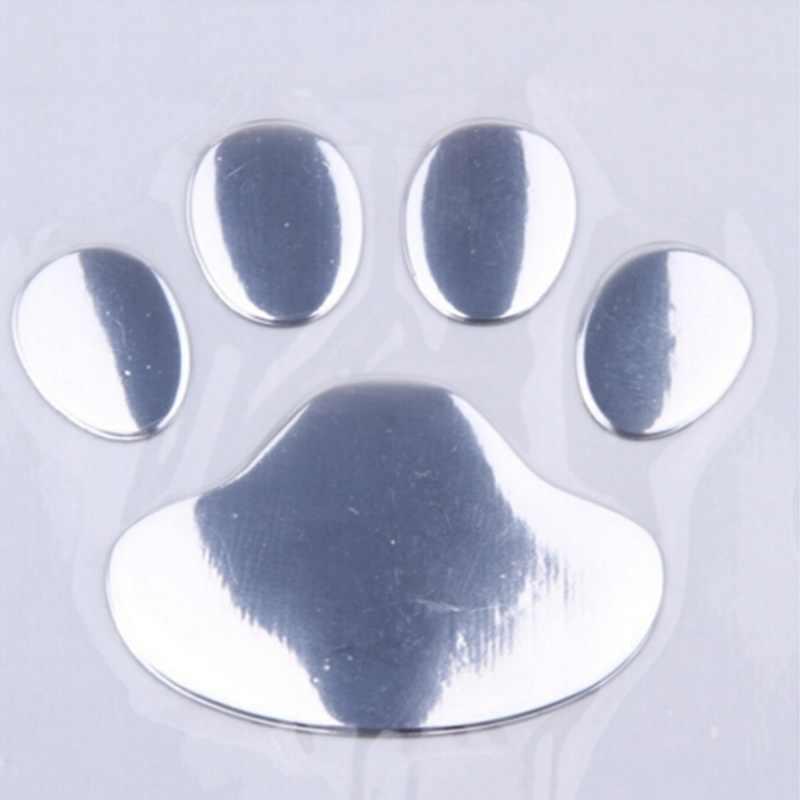 Симпатичное Окно серебристый бампер наклейка на тело наклейка медведь собака животное в виде лапы шаблон для 3D автомобиля