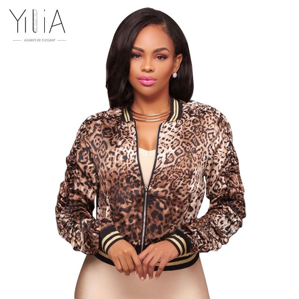 Yilia Woman Fashion Jacket Coat Winter Autumn Leopard ...