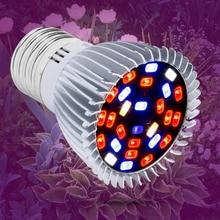 Grow LED Lights E27 Fitolamp LED Plant Light 18W E14 Phyto Lamp 28W Full Spectrum LED Lamp for Indoor Plants Vegetables Seedling 28w