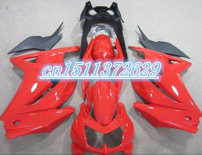 Dor ABS Fairing for KAWASAKI Ninja ZX250R 08 12 black red ZX 250R 2008 2012 ZX 250R 08 09 10 11 12 2008 2012 D injection