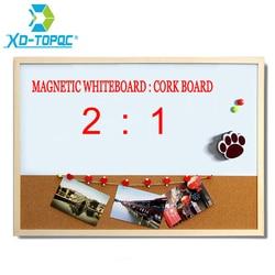 XINDI 30*40 см комбинированная доска из пробкового дерева, магнитная доска с бесплатным маркером, бесплатная доставка