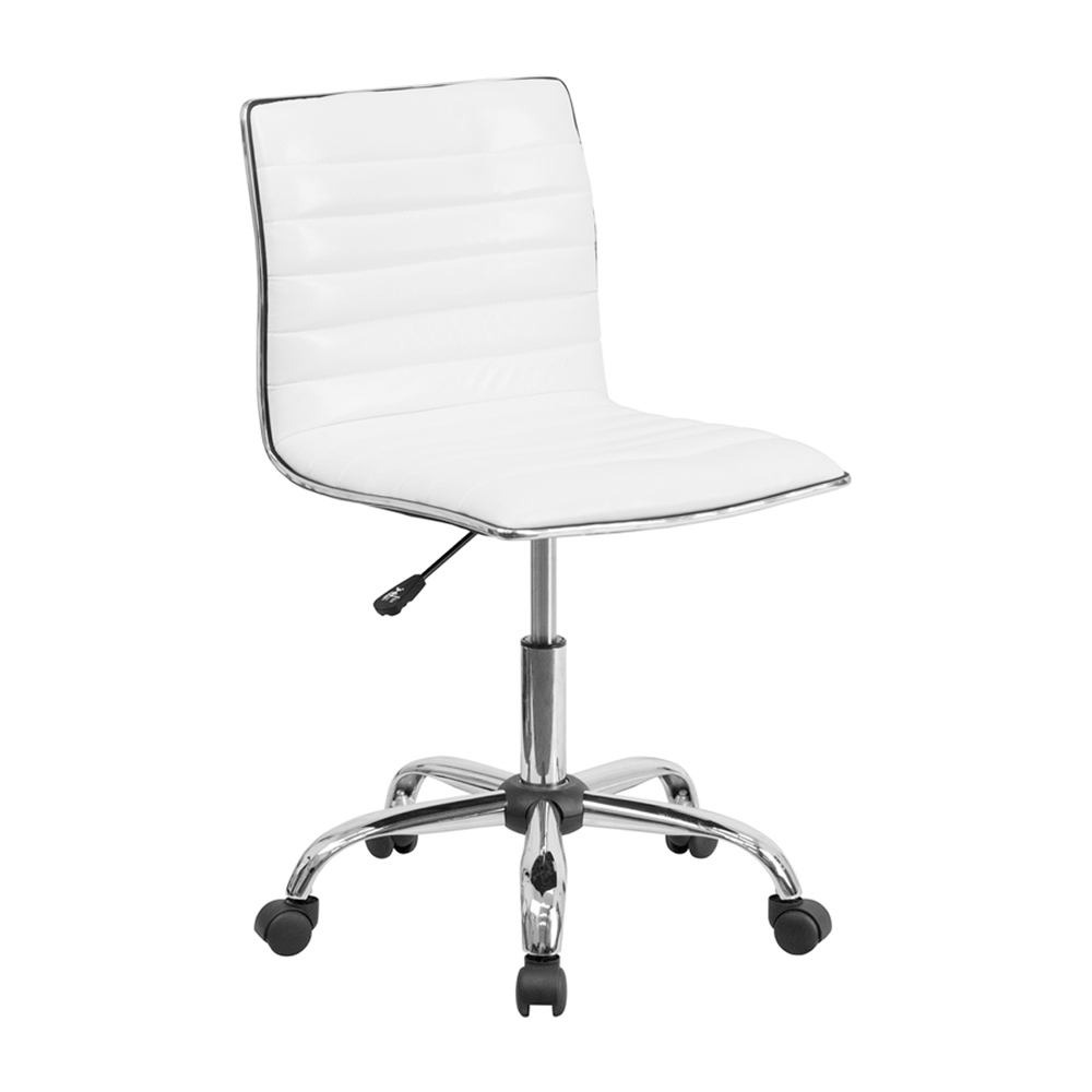 Flash Furniture Mid-Back Armless White Ribbed Designer Task Chair [863-DS-512B-WH-GG] надувные игрушки balloon people ht 512b