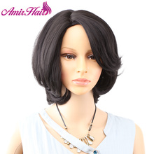 Amir Hair Wig Natural Black and Brown Blonde Straight Hair Short Wig For Women Afro Synthetic Bob Wigs For Female 2 styles for