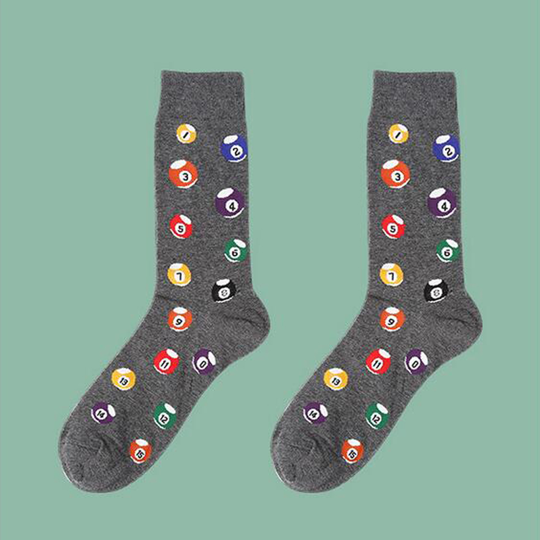 Top Sell 39-44 Socks Brand Women Mens Novelty Socks Combed Cotton Christmas Gift Chausettes Homme Animal Puzzle Design Socks
