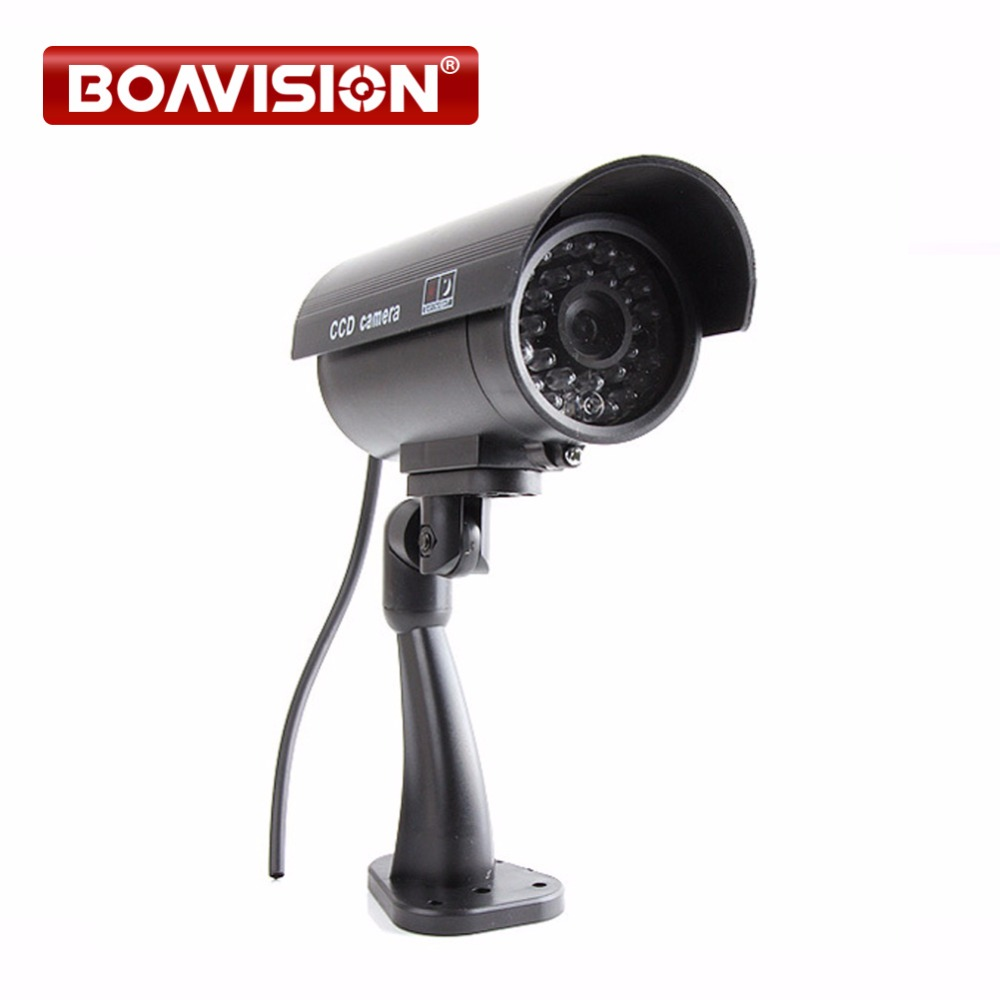 Hot Sale Free Shipping Outdoor Indoor Fake Surveillance Security Dummy Camera Night CAM LED Light wireless fake camera led surveillance motion detection security cctv dummy cam for safety free shipping