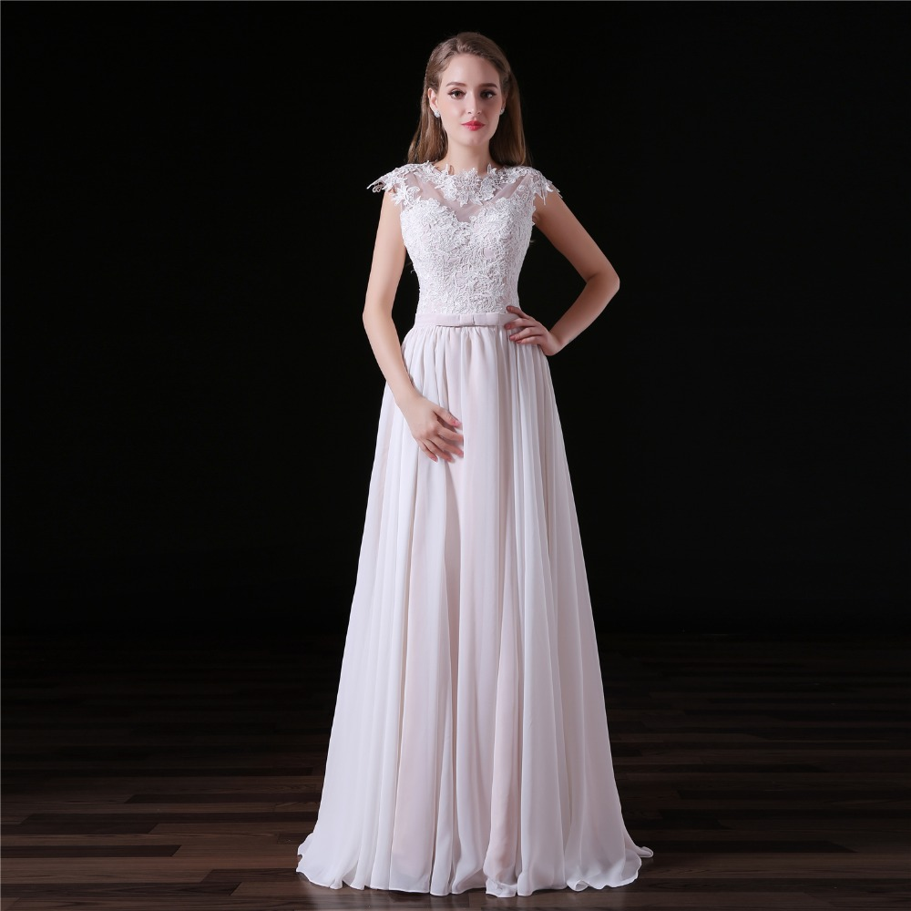 JaneVini 2018 Elegant Chiffon Long   Bridesmaid     Dresses   with Lace Appliques Sleeveless Floor Length A Line Formal Prom Party Gowns
