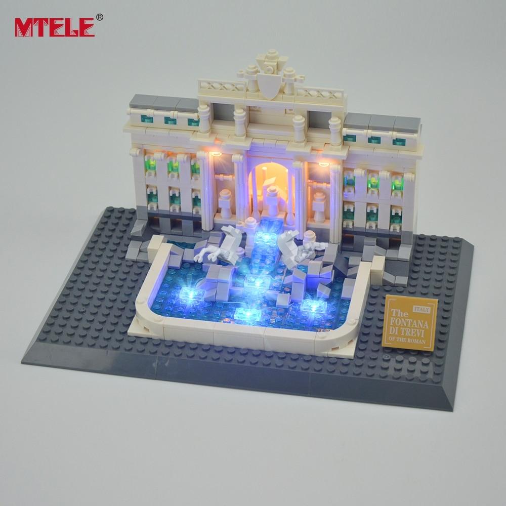 MTELE Brand LED Light Up Kit Untuk Trevi Fountain Architecture Siri - Mainan pembinaan - Foto 2