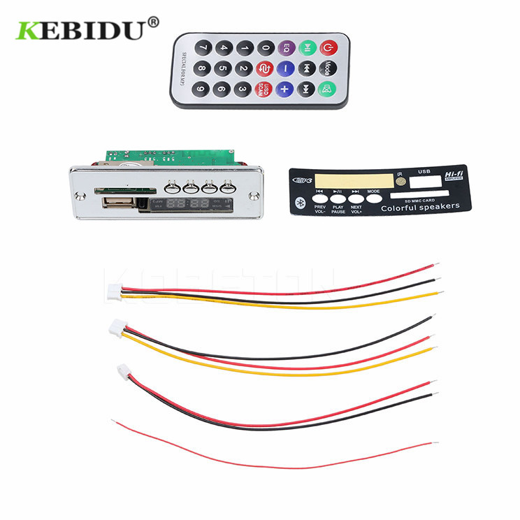 Kebidu Usb Mp3 Decoder Board Modul Auto Usb Bluetooth Hände-freies Mp3 Player Integriert Mit Fernbedienung Usb Fm Aux Radio Mp3-player
