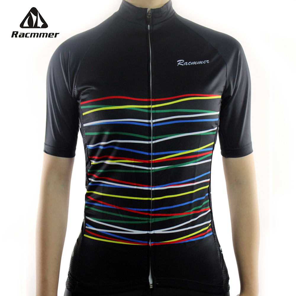 Racmmer 2017 Cycling <font><b>Jersey</b></font> Mtb Bicycle Clothing Bike Wear Clothes Short Maillot Roupa Ropa De Ciclismo Mujer Verano #NS-03