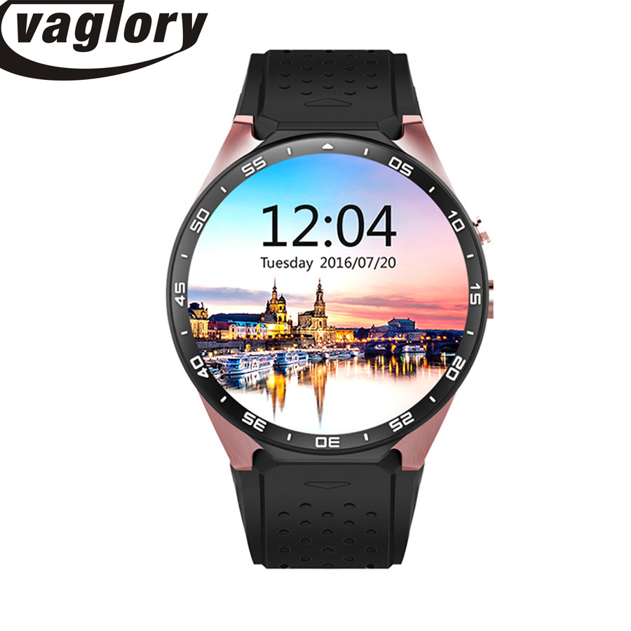 Smart Watch KW88 Android 5.1 Smartwatch GPS + WiFi + 512M RAM + 4G ROM + Camera + Pulsmätare Smartwatch För Ios Android PK 1WO
