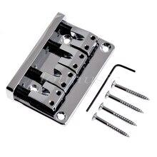 Bass Bridge for Electric Bass Guitar Parts Accessories L Shape Gold Black Chrome 4 String