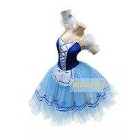 Custom Made Swan Lake Blue Ballet Tutu Dress With Leotard,Classical Ballet Tutu Costumes Tulle Dress Puff Skirt HB017