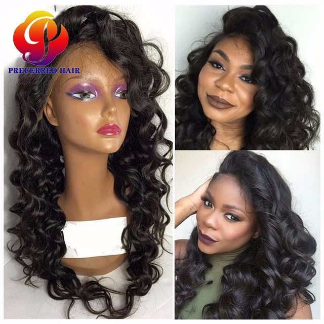 Lace Frontal Wig With Baby Hairs Cheap Custom Made Human Hair Full Lace Wigs  Natural Scalp Lace Front Wigs For African American c94da6cd5