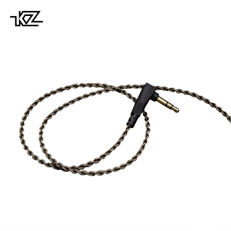 KZ ZS3/ZS4/ZS5/ZS6/ZSA 1.2M Purity Oxygen Free Copper Headset Silver Plated Wire 0.75mm Pin Upgrade Cable For Original Official