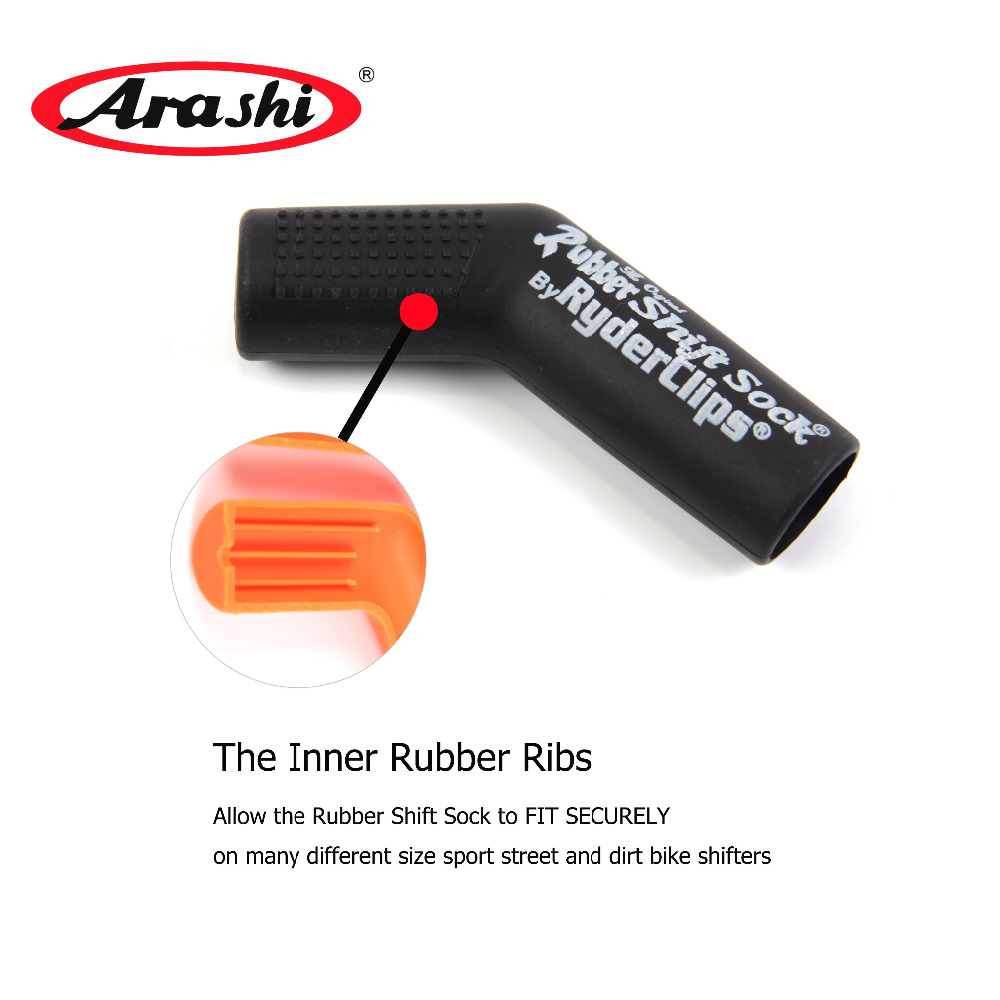 Arashi Rubber Shift Sock Boot Shoe Gear Protector Shift Lever Cover Case Ryder Clips Excellent Motorcycle Accessories Universal