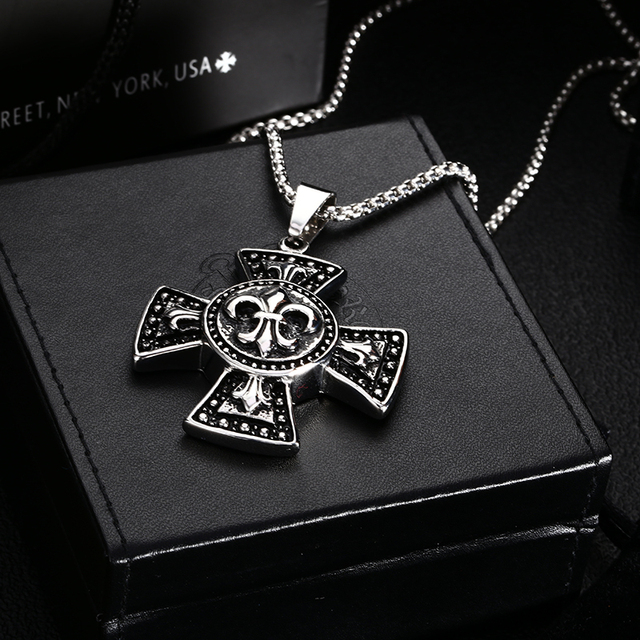 High quality big stainless steel cross pendant black stainless steel high quality big stainless steel cross pendant black stainless steel catholic cross crucifix for men aloadofball Images