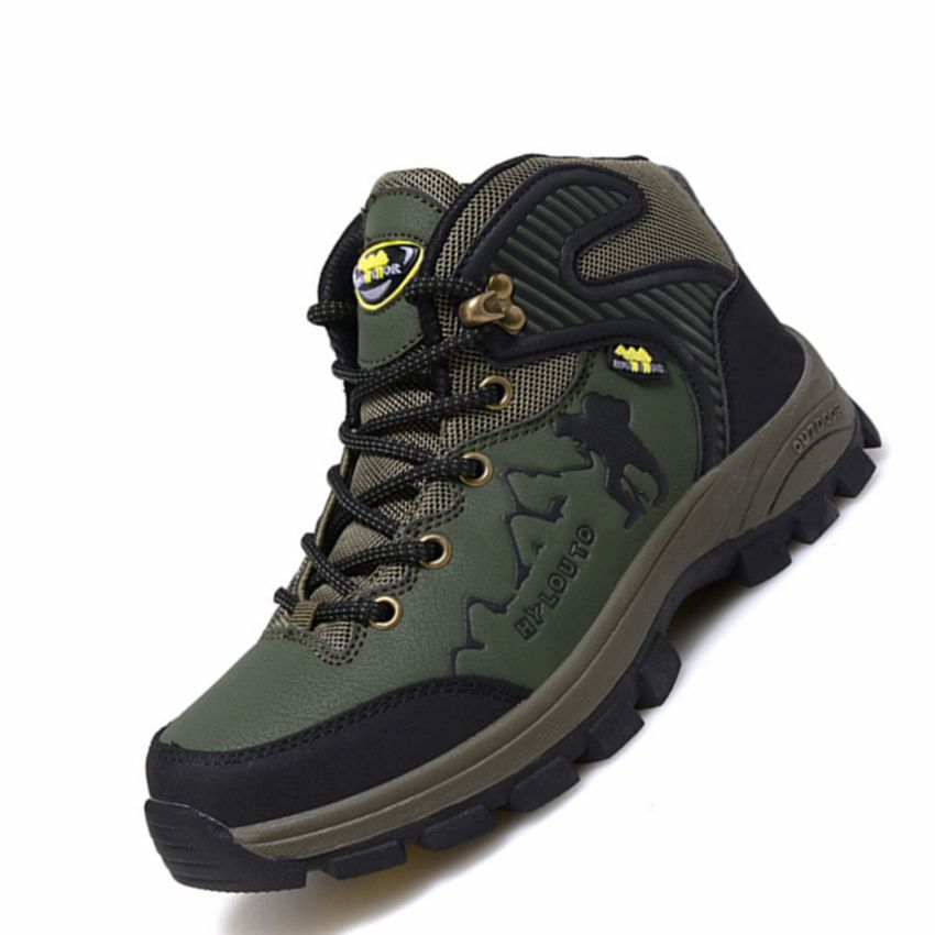 Men Outdoor Sport Winter Plush Hiking Shoes For Men Climbing Mountain Camping Hiking Shoes Plus Large Size Hiking Sneakers Men 2016 men hiking outdoor winter camping shoes warm plush lining trekking hunting waterproof fish sneakers max size quality shoes