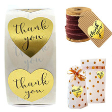 500PCS Gold foil Thank You Round Sticker,Handmade Love Wedding Decoration Gift Label,Thank you for Purchasing Label Sticker