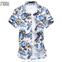 MOGU Short Sleeve Hawaiian Shirt 2017 High Quality Summer New Arrival Floral Men S Shirt Casual