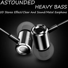 Alta Qualidade de Som Baixo Pesado Fones De Ouvido de Metal Fone De Ouvido Estéreo de 3.5mm fone de Ouvido Intra-auriculares Fones de Ouvido Música Fones De Ouvido Com Microfone Para Telefone