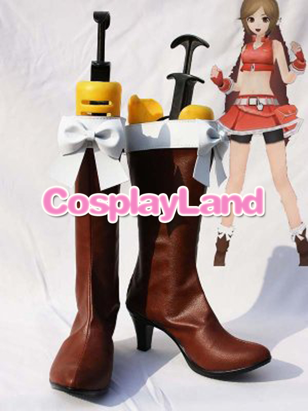 Customize Boots Vocaloid Meiko PU Cosplay Shoes Cosplay Costume Halloween  Party Cosplay Shoes