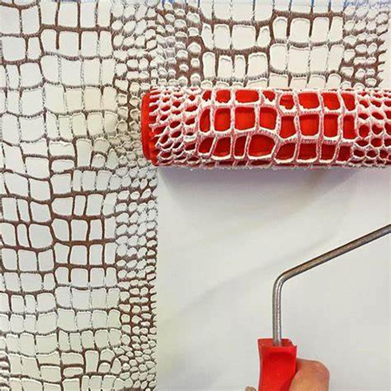 Herramientas decorativas de pintura en relieve de patr/ón de rodillo de pintura decorativa para pared de goma m/áquina de pintura sin aire cepillo de hogar