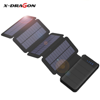 X DRAGON 10000mAh Solar Battery Charger Solar Power Bank Removable Solar Charger Case For IPhone Samsung