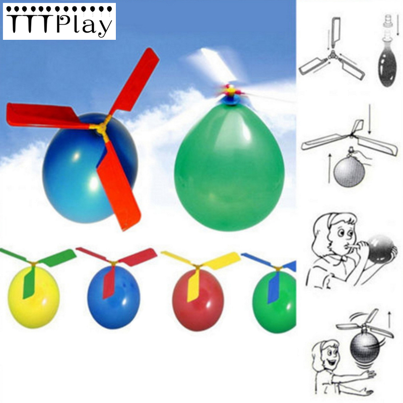1pc Helicopter Balloon Children Toys Aircraft Helicopter Latex Balloon Flying Outdoor Playing Educational Inflatable Toy Balloon