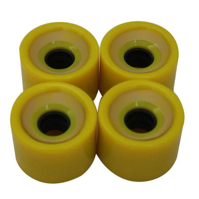 4pcs Creative Skateboard Wheels Bearings Elastic PU Wearable Flexible Durable 70x51